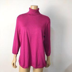 Chico's women's knit turtleneck sweater top
